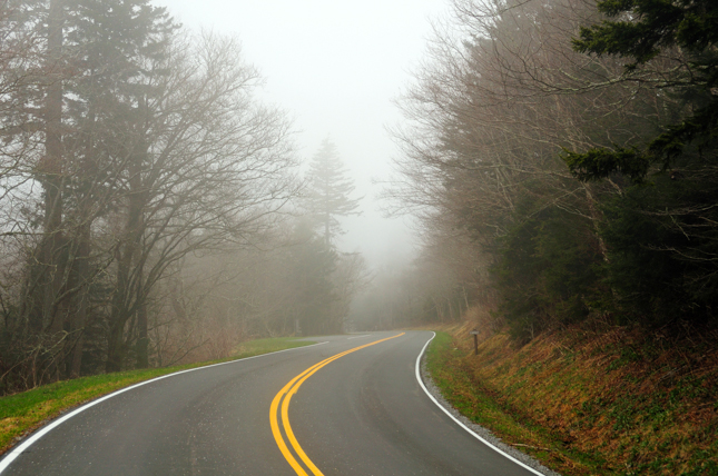 Mountain road in the mist_206102