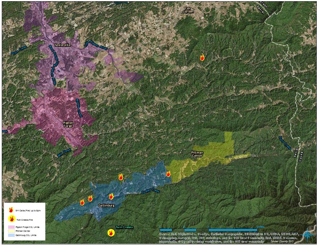 Timeline: Gatlinburg wildfires