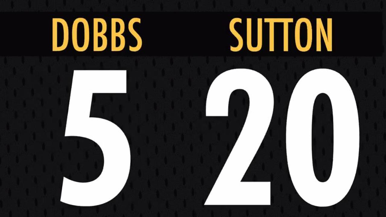 pretty nice 581d9 f1f7a Steelers announce jersey numbers for Josh Dobbs, Cam Sutton