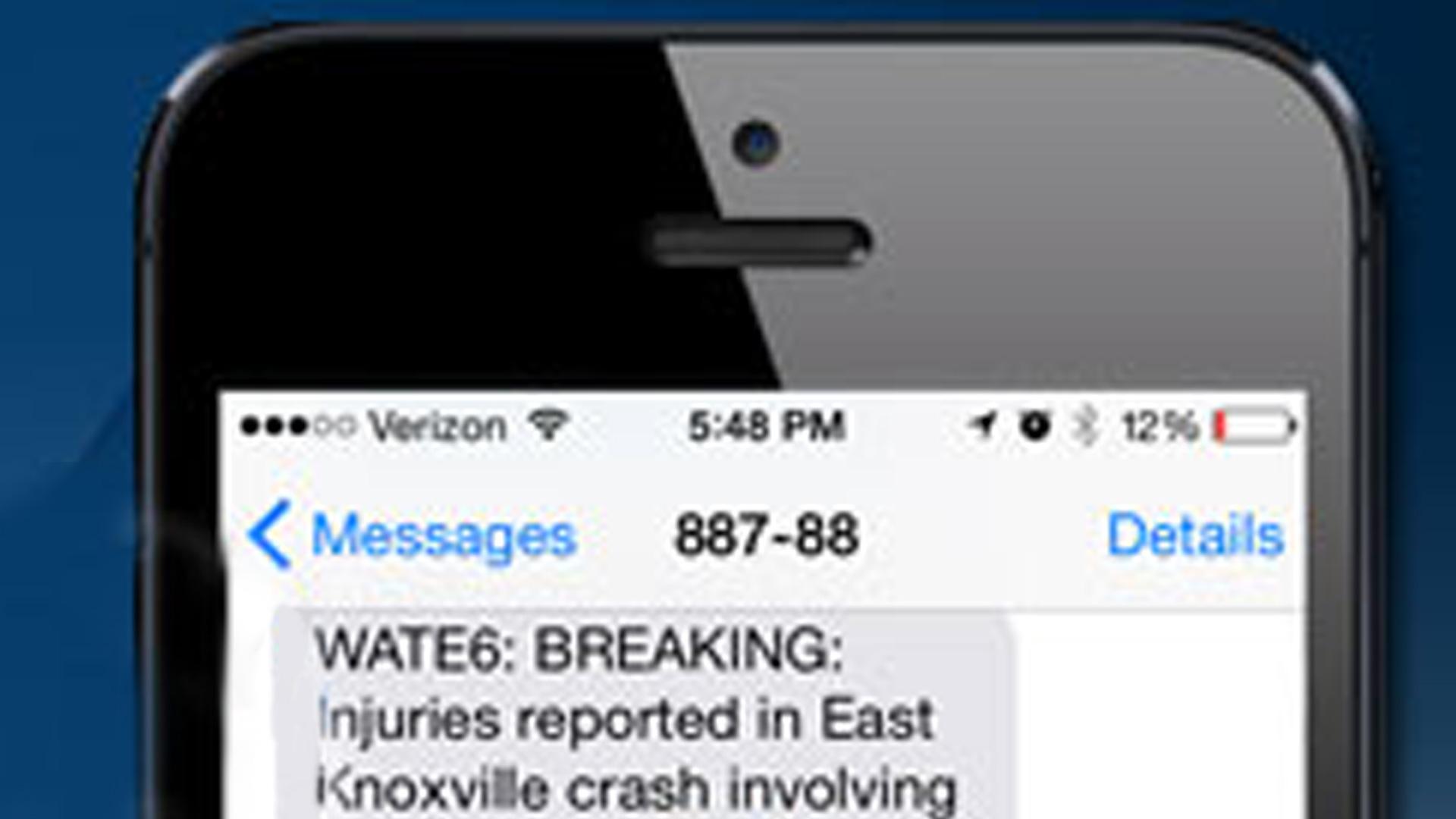 Close up text alerts