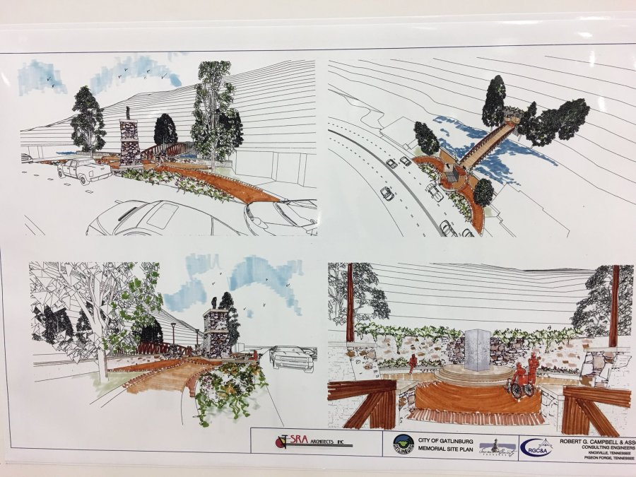 Plans for Gatlinburg wildfire memorial.