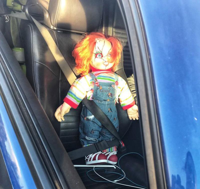 chucky doll carpool