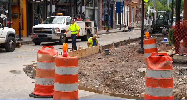 Old City Sidewalk Construction