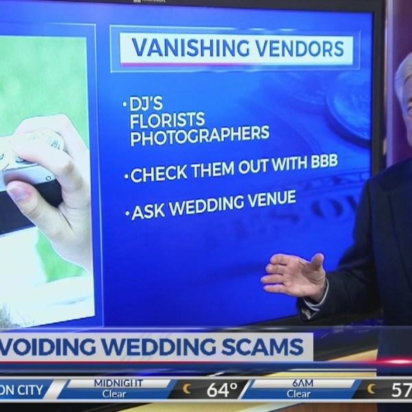 Avoiding wedding scams