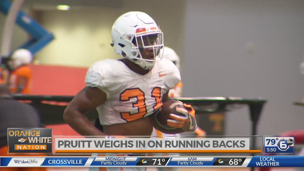 Pruitt weighs in on running backs