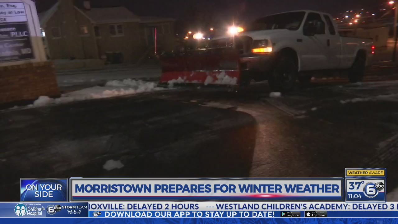 Morristown road crews, police prepare for winter weather