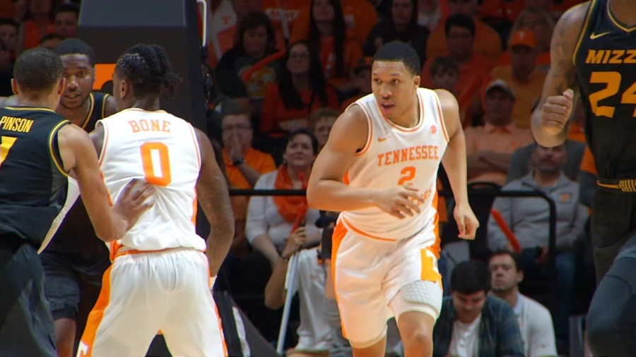 Grant Williams vs Missouri