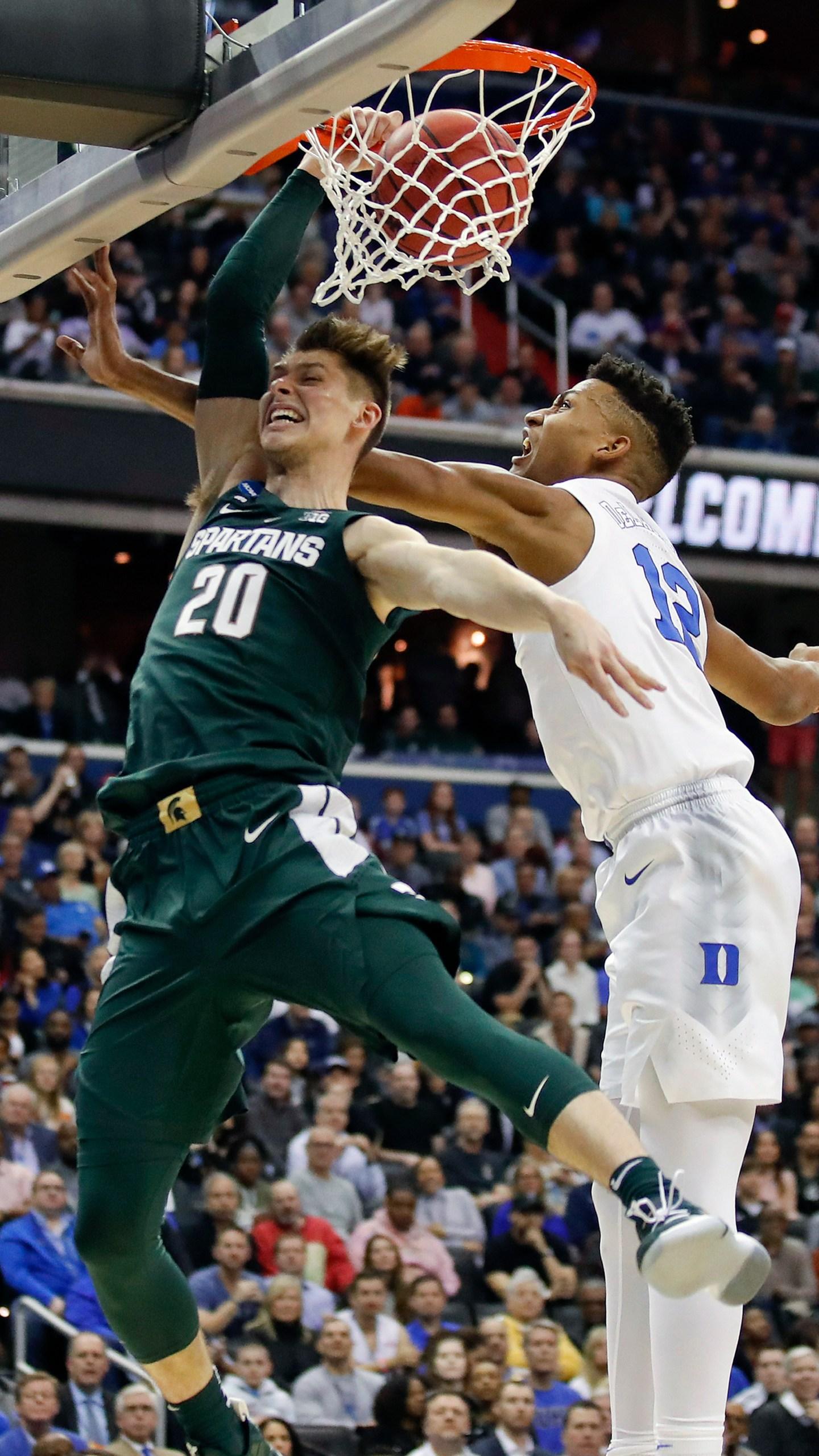 APTOPIX NCAA Michigan St Duke Basketball_1554074709980