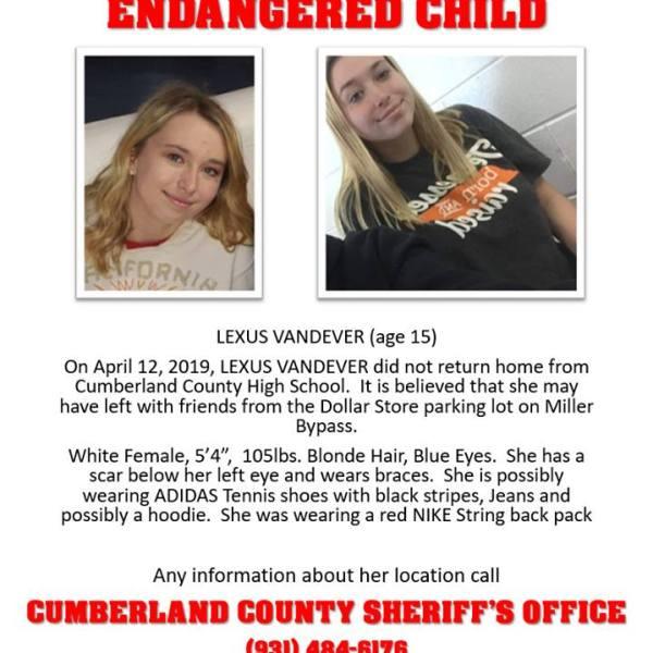 CCSO Missing endangered child Lexus Vandever_1555161466853.jpg.jpg