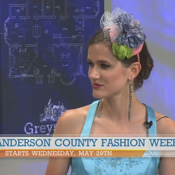 Model Victoria Henley previews collection at Anderson County Fashion Week