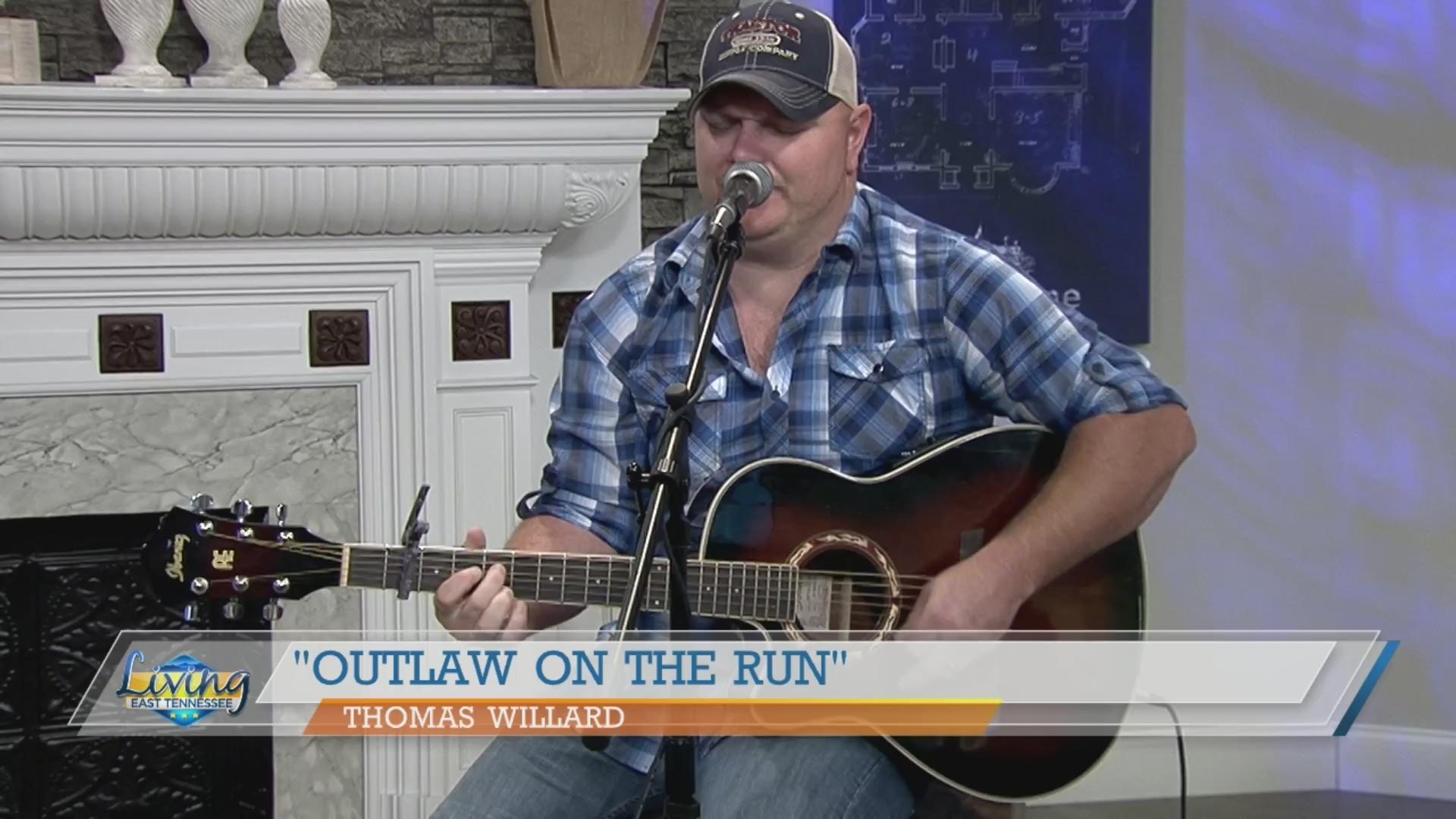 Thomas Willard performs 'Outlaw on the Run'