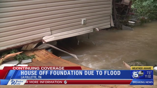Severe weather forces Campbell County home off its foundation