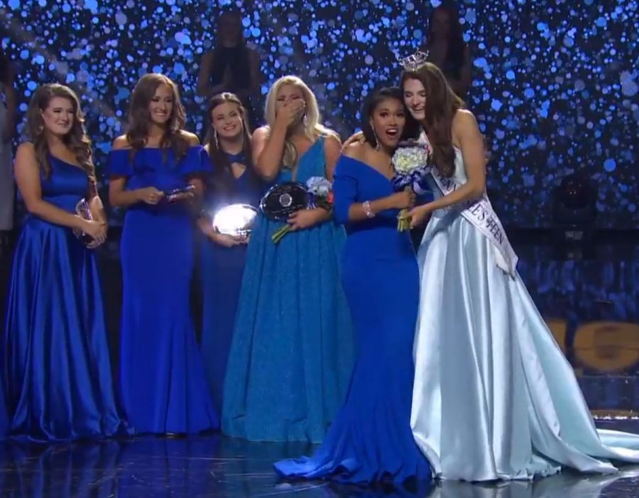 Brianna Mason, Miss Greene County, won the on-stage interview segment Friday night, June 28, 2019, in the 81st Annual Miss Tennessee Scholarship Competition in Thompson-Boling Arena (Photo courtesy Miss Tennessee pageant)