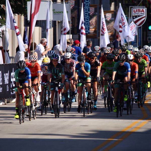 Action from the women's USA Cycling Pro Road National Championship in Knoxville, Tenn., on Sunday, June 30, 2019. (David Killebrew / WATE)
