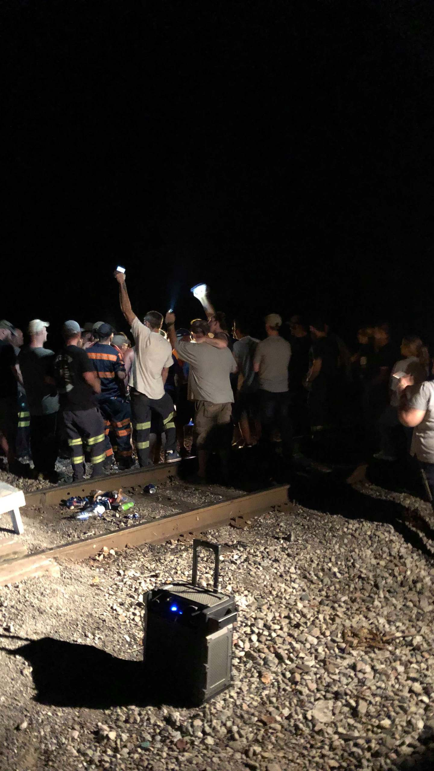 Miners block train tracks to protest bankrupt coal company