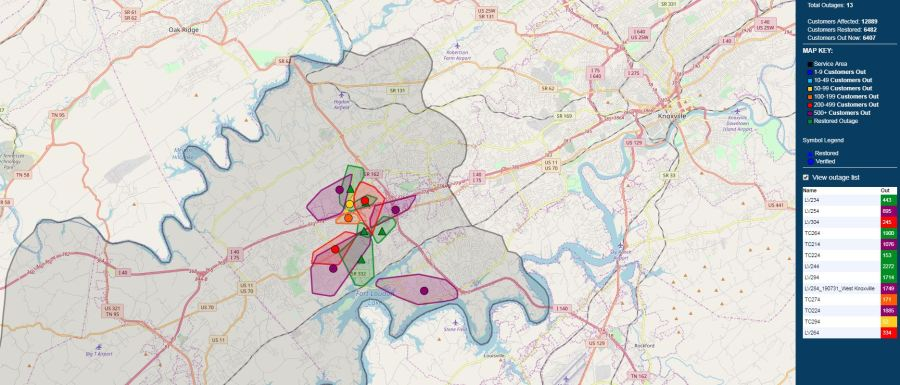Power restored after thousands lose power in West Knox