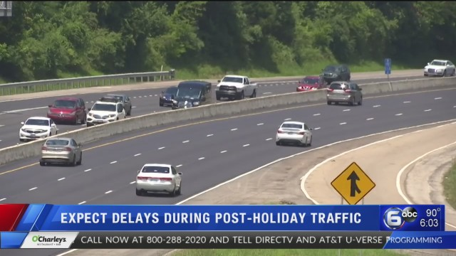 Heavy traffic expected through the holiday weekend | WATE