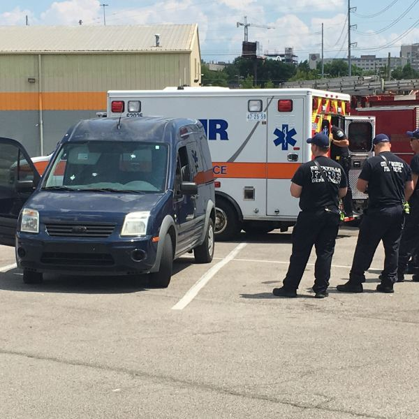 A van believed to be involved in a shooting near the Food City on Western AVenu on Monday, July 8, 2019. (WATE)