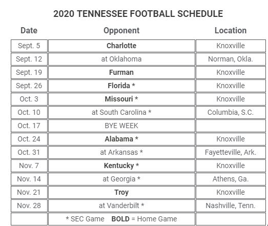 georgia football schedule for 2020