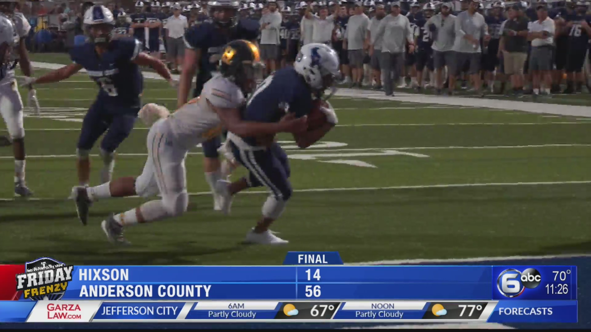 High School football: Tennessee statewide scores   WATE