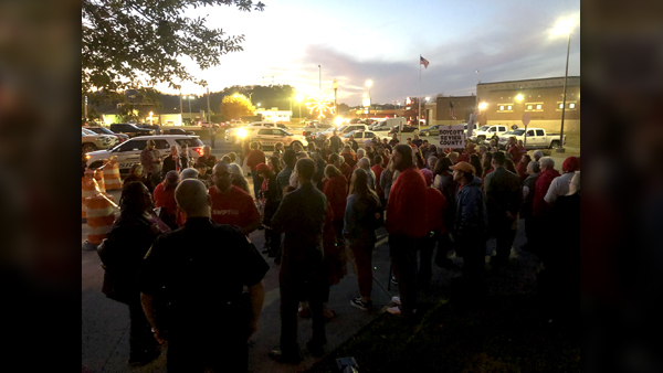 update  protesters  supporters heard at first sevier