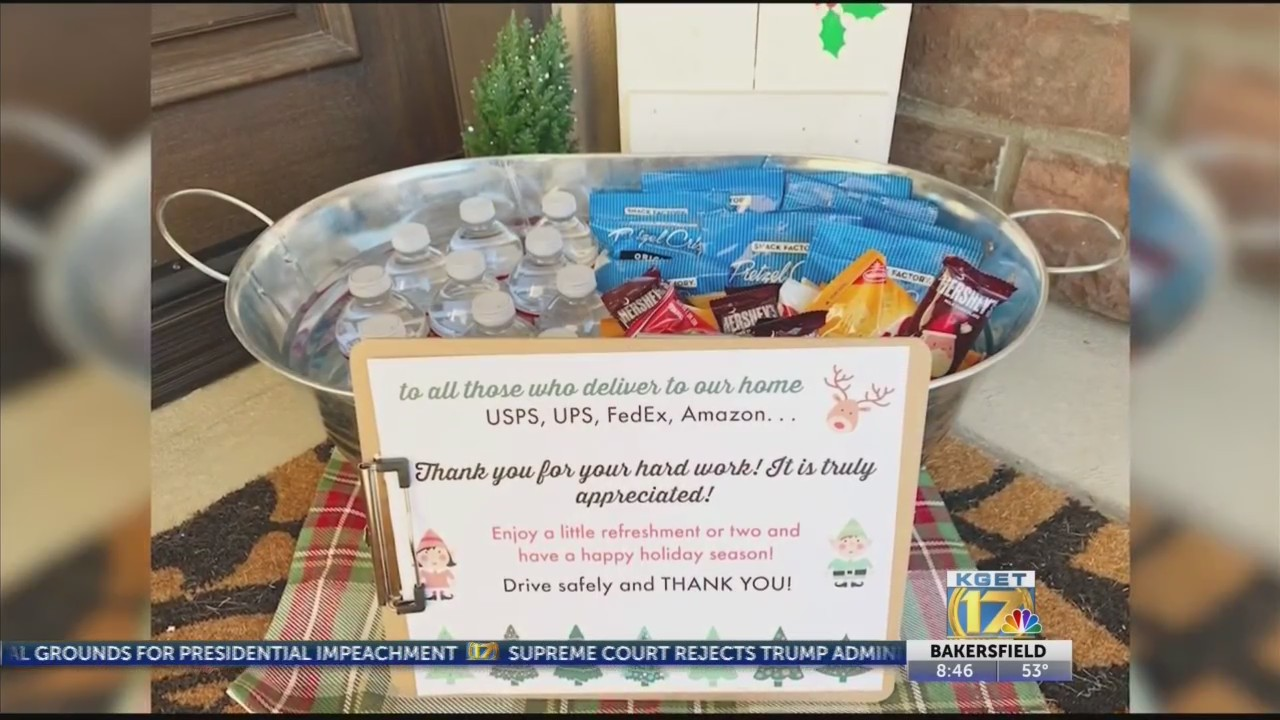 Ca Woman Spreading Holiday Cheer To Delivery Drivers Wate 6 On