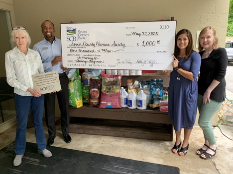 Sevier County Humane Society donation from Sevier County Bank