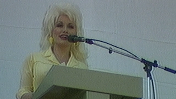 Dolly Parton at 1986 grand opening of Dollywood