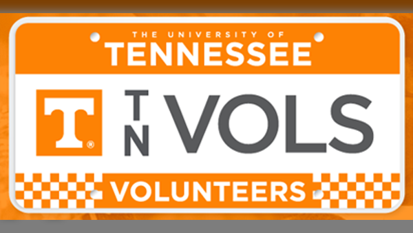 Tennessee vols license plates