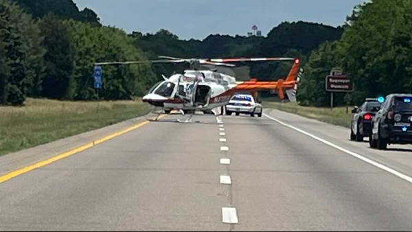 Loudon County I-75 south crash helicopters