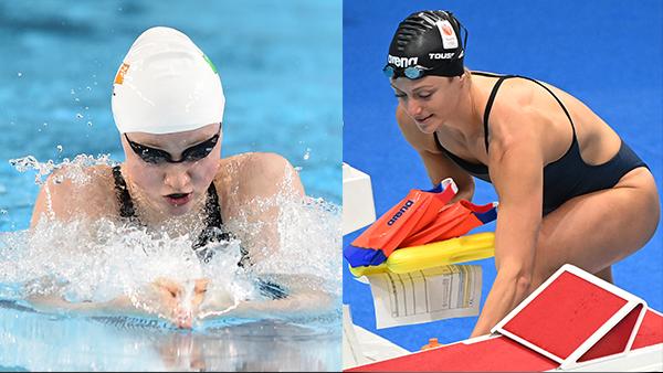 tennessee lady vols swimmers Mona McSharry, Kira Toussaint japan 2020