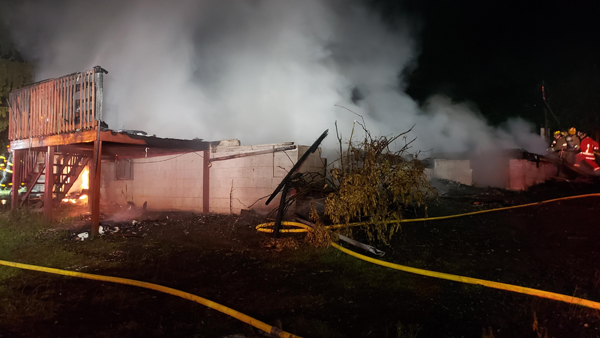 John Sevier School Road and Old Rutledge Pike house fire