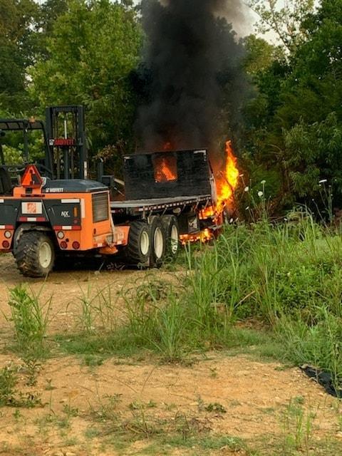 truck fire south wooddale road
