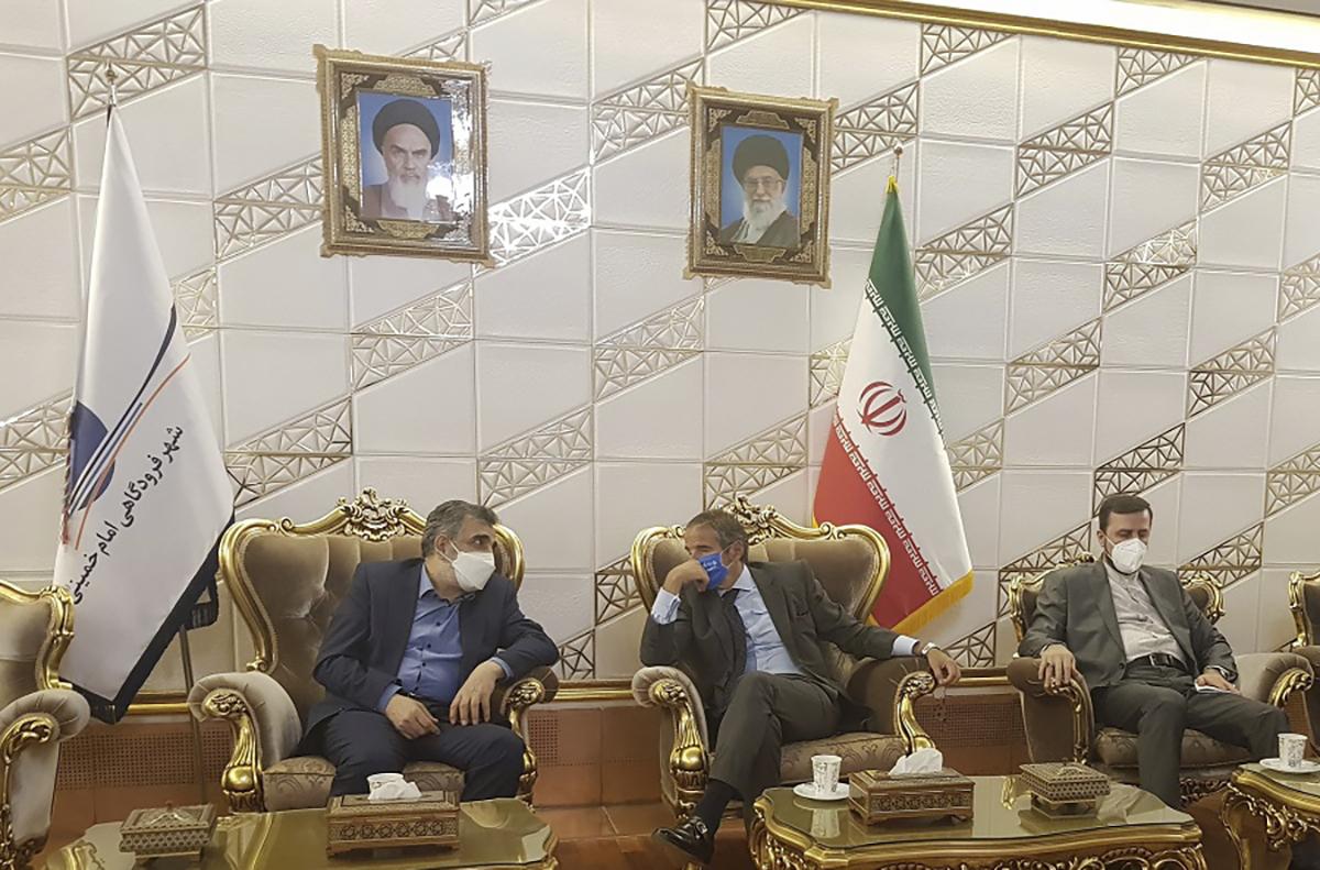 Rafael Mariano Grossi, Behrouz Kamalvandi, Kazem Gharibabadi