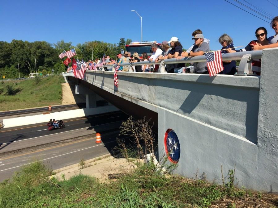 Staff Sgt. Ryan Knauss procession watchers