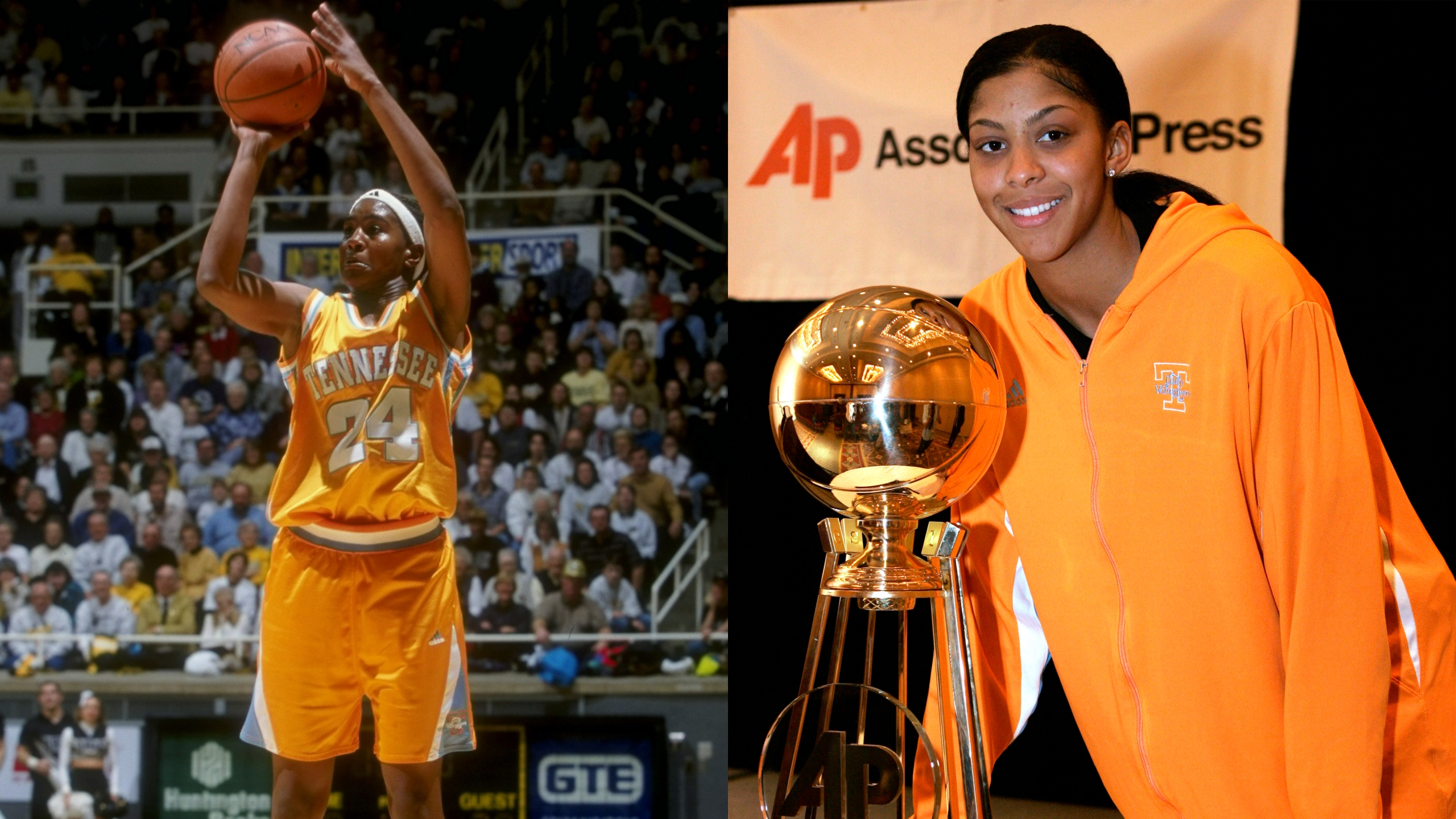 WNBA goats tamika catchings candace parker tennessee lady vols basketball